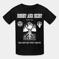 T-shirt enfant Resist And Exist - Peace cannot exist without liberation