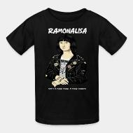 T-shirt enfant Ramonalisa she's a punk punk, a punk rocker