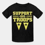 T-shirt enfant Support our troops! YPJ/YPG