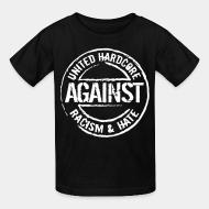 T-shirt enfant United hardcore against racism & hate