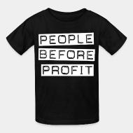 T-shirt enfant People before profit