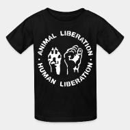 T-shirt enfant Animal liberation - human liberation