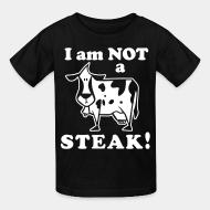 T-shirt enfant I am not a steak!