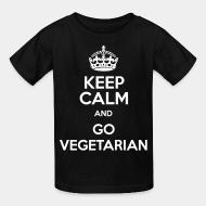 T-shirt enfant Keep calm and go vegetarian