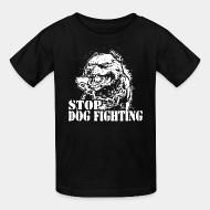 T-shirt enfant Stop dog fighting