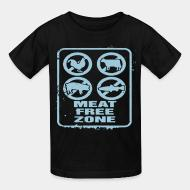 T-shirt enfant Meat free zone
