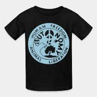 T-shirt enfant Human freedom - animal liberation - autonomy