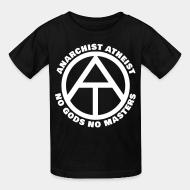 T-shirt enfant Anarchist atheist - no gods no masters