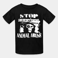 T-shirt enfant Stop animal abuse