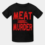 T-shirt enfant Meat = murder