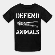 T-shirt enfant Defend animals