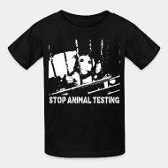 T-shirt enfant Stop animal testing