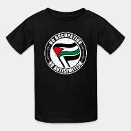T-shirt enfant No occupation, no antisemitism