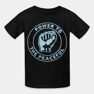 T-shirt enfant Power to the peaceful