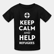 T-shirt enfant Keep calm and help refugees