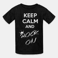 T-shirt enfant Keep calm and rock on
