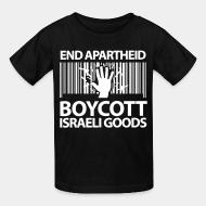 T-shirt enfant End apartheid boycott Israeli goods