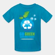 T-shirt enfant Go green save our planet