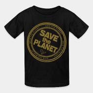 T-shirt enfant Save the planet