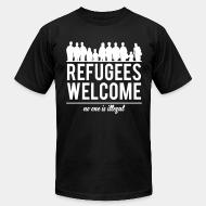 Produit local Refugees welcome - no one is illegal