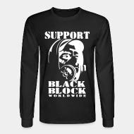 Manches longues Support black block worldwide