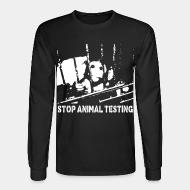 Chandail à manches longues Stop animal testing