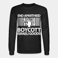 Chandail à manches longues End apartheid boycott Israeli goods