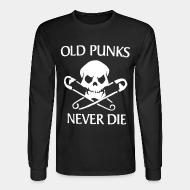 Chandail à manches longues Old punks never die