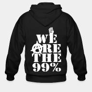 Hoodie à fermeture éclair We are the 99%