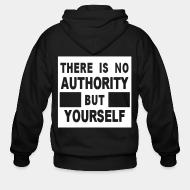 Hoodie à fermeture éclair There is no authority but yourself (CRASS)
