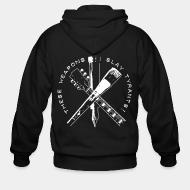 Hoodie à fermeture éclair These weapons slay tyrants