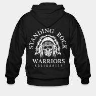 Sweat zippé Standing rock warriors solidarity