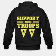 Hoodie à fermeture éclair Support our troops! YPJ/YPG