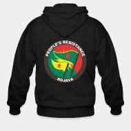 Sweat zippé People's resistance. Rojava