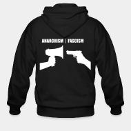 Hoodie à fermeture éclair Anarchism vs fascism
