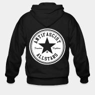 Hoodie à fermeture éclair Antifascist allstars - freedom fighters