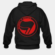 Hoodie à fermeture éclair Global antifa