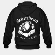 Hoodie à fermeture éclair Skinhead a way of life