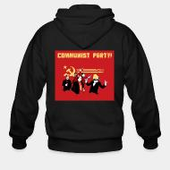 Hoodie à fermeture éclair Communist party!