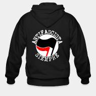 Sweat zippé Antifascista siempre