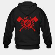 Hoodie à fermeture éclair RASH - Red & Anarchist Skinheads