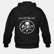 Hoodie à fermeture éclair Appalachian Terror Unit - We will continue to break the law and destroy property until we win