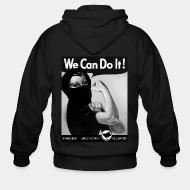 Hoodie à fermeture éclair We can do it! anarchism - direct action - solidarity