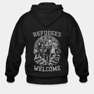Sweat zippé Refugees Welcome