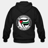 Hoodie à fermeture éclair No occupation, no antisemitism