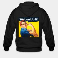Hoodie à fermeture éclair We can do it! (Rosie The Riveter)