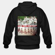 Hoodie à fermeture éclair The question is not can they reason, nor can they talk, but... can they suffer?