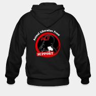 Hoodie à fermeture éclair ALF Animal Liberation Front support