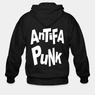 Sweat zippé Antifa punk