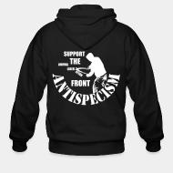 Sweat zippé Antispecism - support the animal liberation front